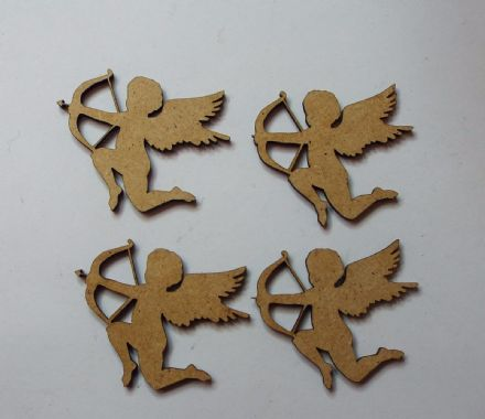 wooden craft CUPID shapes, laser cut 3mm mdf embellishment, decoupage,